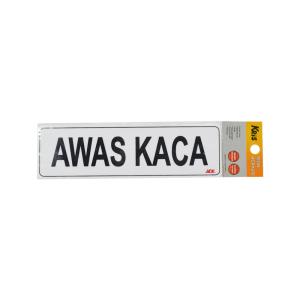 Kris PAPAN Penanda AKRILIK AWAS KACA 26x7.5 CM