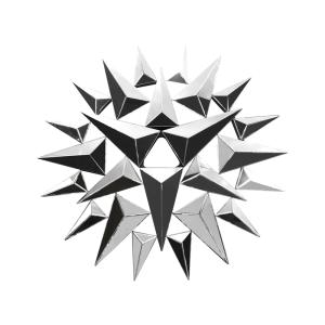 CERMIN DINDING 119X4.5 CM 9533 - SILVER