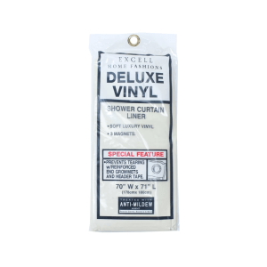 tirai kamar mandi Vinyl magnetic 178x180 cm - krem