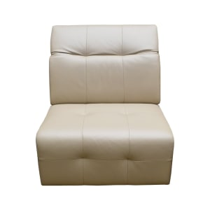 m&d cessena sofa kulit modular tanpa lengan - pebble