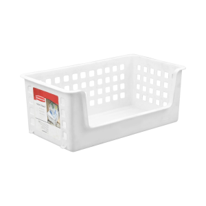 RUBBERMAID KERANJANG SLIDE AND STACK 35.5 CM - PUTIH