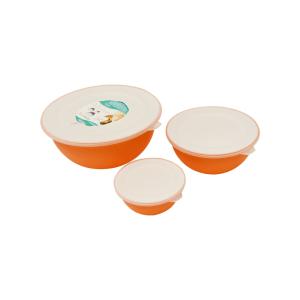 omada sanaliving set mangkuk 3 pcs - oranye