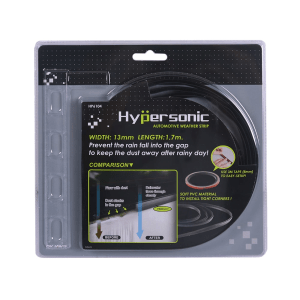HYPERSONIC WEATHER STRIP PELIPIT KACA MOBIL - HITAM