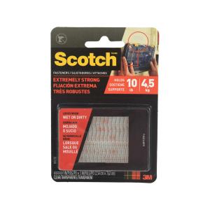 3M SCOTCH EXTREME FASTENER PENGIKAT VELCRO 2.5x7.6 cm - TRANSPARAN