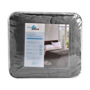 Arthome Selimut Flanel Fleece 160x200 cm - Abu-Abu Tua