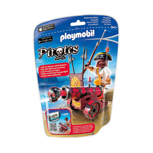 PLAYMOBIL RED IN CANNON WITH BUCCANEER 6163
