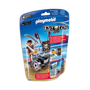 PLAYMOBIL INTERACTIVE CANNON WITH RAIDER - HITAM