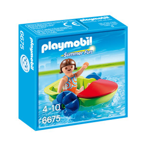 PLAYMOBIL CHILDRENS PADDLE BOAT 6675
