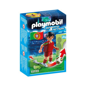PLAYMOBIL SOCCER PLAYER PORTUGAL 6899