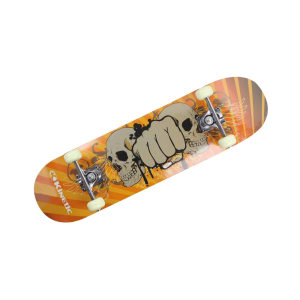 KINETIC DOUBLE KICK PAPAN SKATEBOARD SKULL 78.7X20 CM