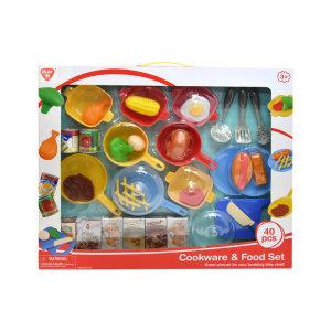 PLAYGO SET COOKWARE & FOOD 40 PCS