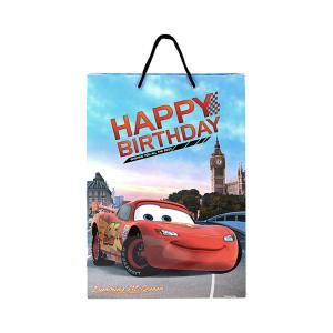 Disney Paper bag Cars Lightning McQueen Paris Happy Birthday Size L