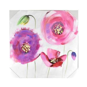 LUKISAN MINYAK FLOWER 9920 60X60X2.8 CM