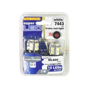 RAZON SET LAMPU REM/TAIL LIGHT LED MOBIL 15 LED 2 PCS - PUTIH