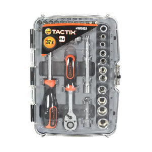 TACTIX SET KUNCI SOK SQ1/4 INCI 5.5-14 MM 37 PCS