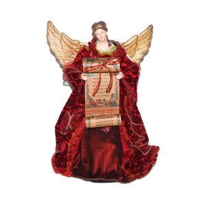 NOELLE HIASAN POHON NATAL ANGEL 32 CM - MERAH