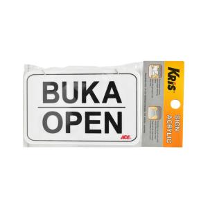 KRIS PAPAN PENGUMUMAN AKRILIK BUKA/TUTUP 10X16 CM