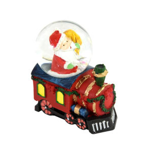 NOELLE WATER  GLOBE SANTA IN TRAIN 4.5 CM