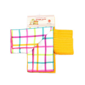 ARTHOME SET KAIN LAP DAPUR CHECKER L MIX 2 PCS