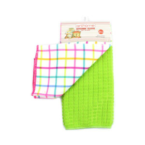 ARTHOME SET KAIN LAP DAPUR CHECKER M MIX 2 PCS