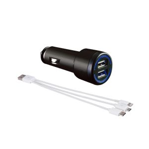 HYPERSONIC CHARGER MOBIL USB 3 IN 1