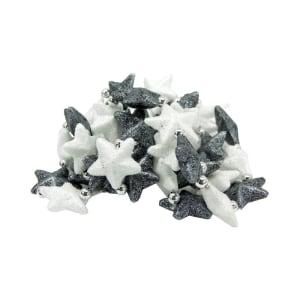 NOELLE STAR GARLAND 150 CM - PUTIH/HITAM