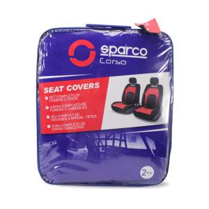 SPARCO COVER KURSI MOBIL ROW DEPAN PVC 2 PCS