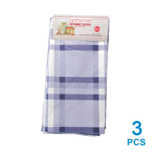 ARTHOME SET KAIN LAP DAPUR CHECKER 3 PCS - BIRU