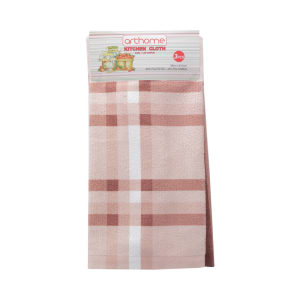 ARTHOME SET KAIN LAP DAPUR CHECKER 3 PCS - MERAH