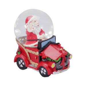 NOELLE WATER GLOBE SANTA IN CAR 4.5 CM