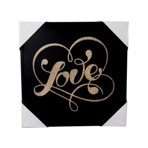 ARTHOME HIASAN DINDING PRINT LOVE & LOVE - GOLD