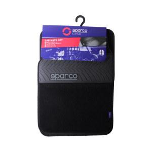 SPARCO SET KARPET MOBIL PVC 4 PCS - HITAM