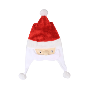 NOELLE XMAS PLUSH HAT WITH SANTA FACE