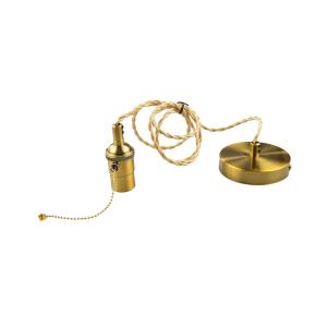 KRISBOW FITTING LAMPU GANTUNG E27 - GOLD