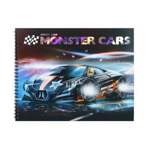 TOP MODEL BUKU MEWARNAI CREATE YOUR MONSTER CARS