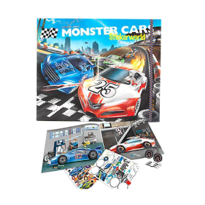 TOP MODEL BUKU STIKER MONSTER CARS STICKERWORLD