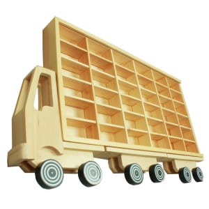 DUTCHWOOD RAK DISPLAY BENTUK TRUK 36 SLOT - KREM