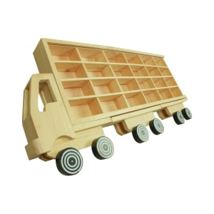 DUTCHWOOD RAK DISPLAY BENTUK TRUK 24 SLOT - KREM
