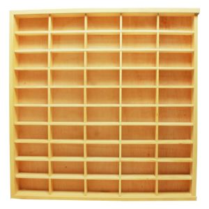 DUTCHWOOD RAK DISPLAY 50 SLOT - KREM