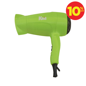 KRIS MINI TRAVEL HAIR DRYER 1000W - HIJAU