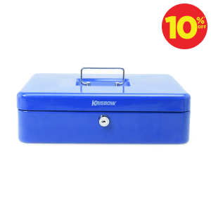 KRISBOW CASH BOX 12 INCH - BIRU