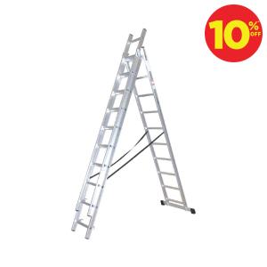 KRISBOW TANGGA LIPAT KOMBINASI ALUMINIUM 10 STEP