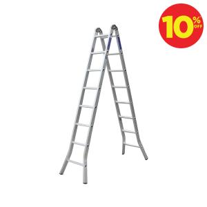 KRISBOW TANGGA TWO JOINT ALUMINIUM LIPAT 8 STEP