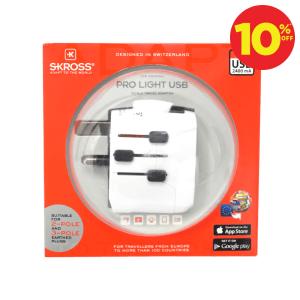 SKROSS TRAVEL ADAPTOR PRO LIGHT USB
