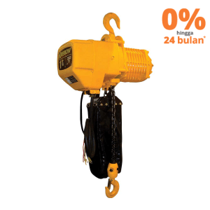 KRISBOW HEAVY DUTY ELECTRIC CHAIN HOIST 1 T X 6 M