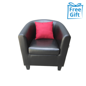 LEXXY SOFA TUB CHAIR – HITAM/ MERAH
