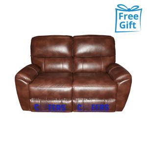CHEERS mantova sofa recliner 2 dudukan - cokelat