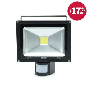 KRIS LAMPU SOROT LED DENGAN SENSOR 20W
