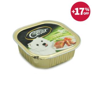 CESAR DOG FOOD PRIME BEEF VEGETABLE 100 GR