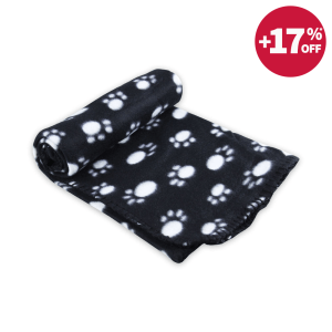 PAWS N TAIL SELIMUT ANJING 100 X 70 CM - HITAM
